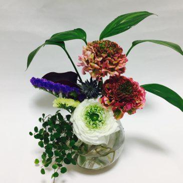「生け花盆栽~水バージョン」を作りました!
