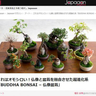 Japaaan magazine(10/28付)で「仏像盆栽」が紹介されました!